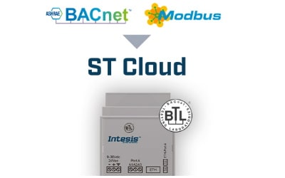 Intesis BACnet MS/TP or IP or Modbus RTU and TCP to ST Cloud Control Gateway