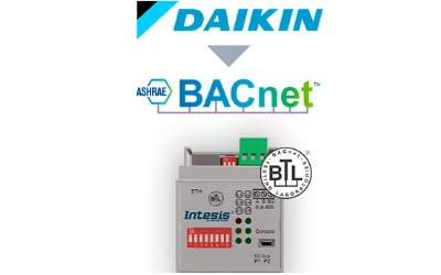 Intesis Daikin VRV and Sky systems to BACnet IP/MSTP Interface