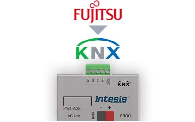 Intesis Fujitsu RAC and VRF to KNX Interface with binary inputs (to CN connector)