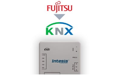 Intesis Fujitsu RAC and VRF systems to KNX Interface with binary inputs (to remote controller)