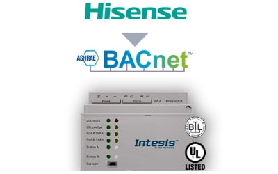 Intesis Hisense VRF systems to BACnet IP/MSTP Interface