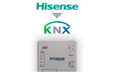 Intesis Hisense VRF systems to KNX Interface with binary inputs