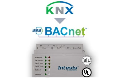 Intesis KNX TP to BACnet IP & MS/TP Server Gateway