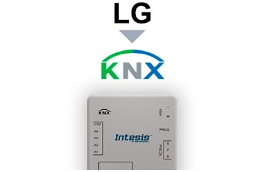 Intesis LG VRF systems to KNX Interface with Binary Inputs