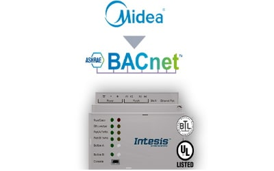 Intesis Midea Commercial & VRF systems to BACnet MSTP Interface