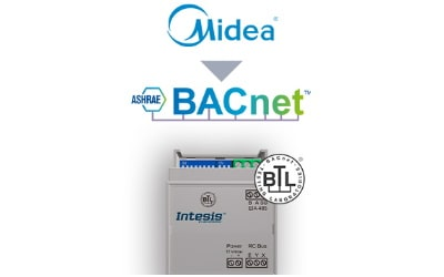 Intesis Midea Commercial & VRF systems to BACnet IP/MSTP