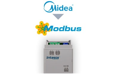 Intesis Midea Commercial & VRF systems to Modbus RTU Interface