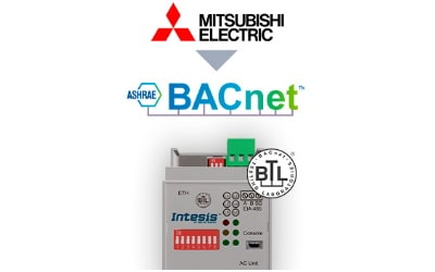 Intesis Mitsubishi Electric Domestic, Mr.Slim and City Multi to BACnet IP/MSTP Interface