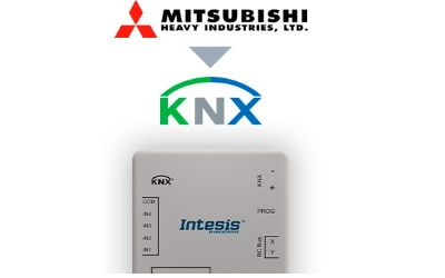 Intesis Mitsubishi Heavy Industries FD and VRF systems to KNX Interface with Binary Inputs