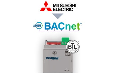 Intesis Mitsubishi Electric Domestic, Mr.Slim and City Multi to BACnet MSTP Interface
