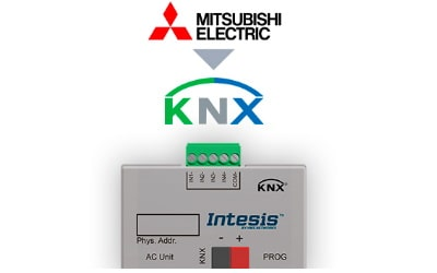 Intesis Mitsubishi Electric Domestic, Mr.Slim and City Multi to KNX Interface with Binary Inputs