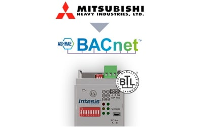 Intesis Mitsubishi Heavy Industries FD and VRF systems to BACnet IP/MSTP Interface