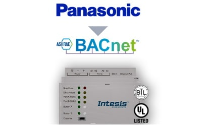 Intesis Panasonic ECOi, ECOg and PACi systems to BACnet IP/MSTP Interface