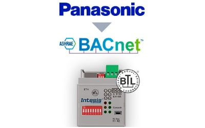 Intesis Panasonic ECOi and PACi systems to BACnet IP/MSTP Interface