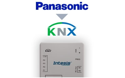 Intesis Panasonic ECOi and PACi systems to KNX Interface with Binary Inputs