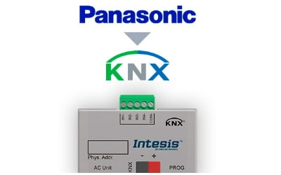 Intesis Panasonic Etherea AC units to KNX Interface with Binary Inputs