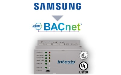 Intesis Samsung NASA VRF systems to BACnet IP/MSTP Interface