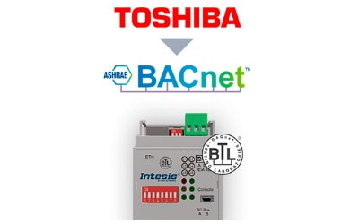 Intesis Toshiba VRF and Digital systems to BACnet IP/MSTP Interface