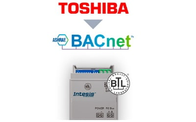 Intesis Toshiba VRF and Digital systems to BACnet MSTP Interface