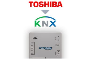 Intesis Toshiba VRF and Digital systems to KNX Interface with Binary Inputs