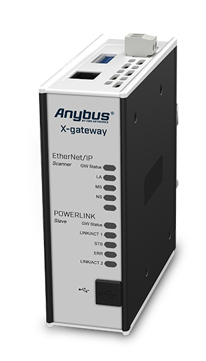Anybus X-gateway: EtherNet/IP Scanner – POWERLINK Device